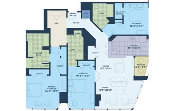 The Streeter 3 Bedroom with Den