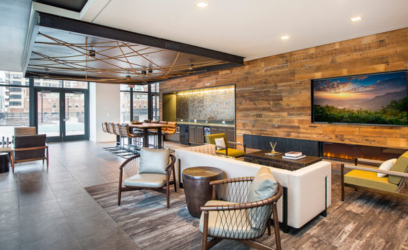 Lounge w Fireplace + TV
